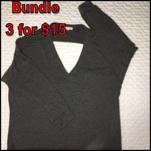 Open Back long sleeve top XL